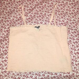 Cropped square neck tank